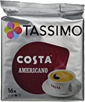 TASSIMO Costa Americano Cappuccino Coffee Capsules T-Discs Pack of 5, 80 Drinks
