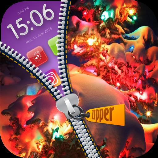 Christmas Zipper Lock : Snow Man Wallpaper Screen