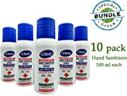 10 packs hand sanitizer spray (100 ml).Portable Refreshing Hand Soap Gel to Instant Skin Cleansing, Disposable Hand Sanitize