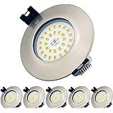 Spots LED Encastrables IP44 pour Salle de bain, Protégés contre les projections d'eau, 7W Blanc Chaud 3000K, Plafonnier Encas