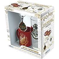 ABYstyle - Harry Potter - Lot de Hogwarts - Verre + porte-clés + mini tasse