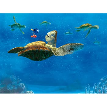 Disney AG Design Finding Nemo 4 Part Photo Mural Wallpaper For Childrens Room Multi Colour 360 X 255 Cm