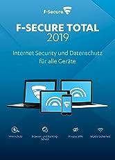 F-Secure TOTAL Security und VPN 2019 - 1 Jahr / 5 Geräte für Multi Plattform (PC, Mac, Android und iOS) [Online Code]
