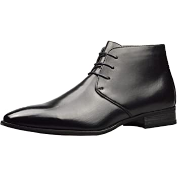 New Mens UK Size 10 Black Leather Lined Lace Up Formal Ankle Boots