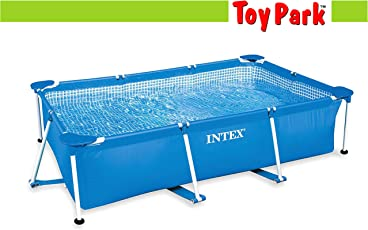Toy Park UV Protected 3834L Rectangular Family Swimming Pool, 9.8x6.5x2.5ft (Blue)