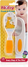 Nuby Comb And Brush Set Blister Pack - Designs May Vary (White)