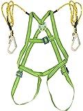Extrapower Safety Belt Harness - Full Body (Scaffolding Hook, Green)