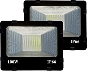 MLD 100W LED Focus Waterproof Ip65 Flood Light (Cool White) - Pack of 2