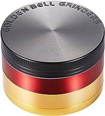 LIHAO Pollen Grinder Crusher für Spice Kräuter Gewürze Herb 4-teilig Set mit Pollen Scraper