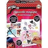 Educa - Manualidades Miraculous Lady Bug Mágicas, Incluye 5 Cuadros para Colorear, 12 Acuarelas y 2 Pinceles, a Partir de 7 a