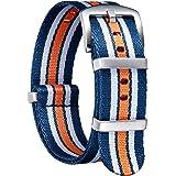 BINLUN Bracelet de Montre en Nylon Militaire NATO Remplacement Bracelet Montre avec Boucle en Acier Inoxydable Hommes Femmes