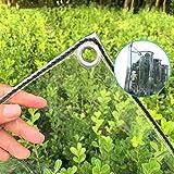Tarp-dekzeil Transparant Zeildoek Met Doorvoertules, Dikker, Regendicht Plastic Doorzichtig Zeildoek, Duurzame PVC-pergola-te