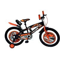 RAW BICYCLES 20T Sports BMX Single Speed Kids Cycles for 7 to 10 Years Boys & Girls Semi Assembled Tyre and Tube with Training Wheels