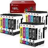 Toner Kingdom 18XL Cartucce d'inchiostro Sostituzione per Epson 18 18 XL Compatibile con Epson Expression Home XP-205 XP-212