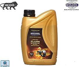 NISSANOL Flash Synth 20W-40 4T API SN & JASO MA 2 Synthetic Petrol Engine Oil for Bikes (900Ml)