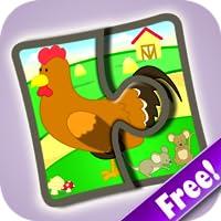 Bauernhof Puzzlespiele 123 gratis - Wörter- Lernspiel für Kinder