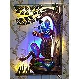 RSN Iron Radha Krishna Wall Hanging Art Decor Sculpture with Led Lights (Multi)