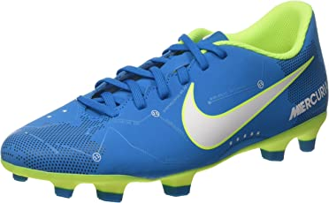 Nike Synthetic Mercurial Vortex III NJR FG Shoe (UK 5 - US 6) (921511_400, Multicolour)