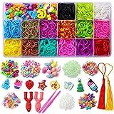 Mocoosy Loom Rubber Bands for Kids, Newest Over 2200 Loom Bands Refill Set for Bracelets, Loom Twist Bands Kit for Craft, DIY