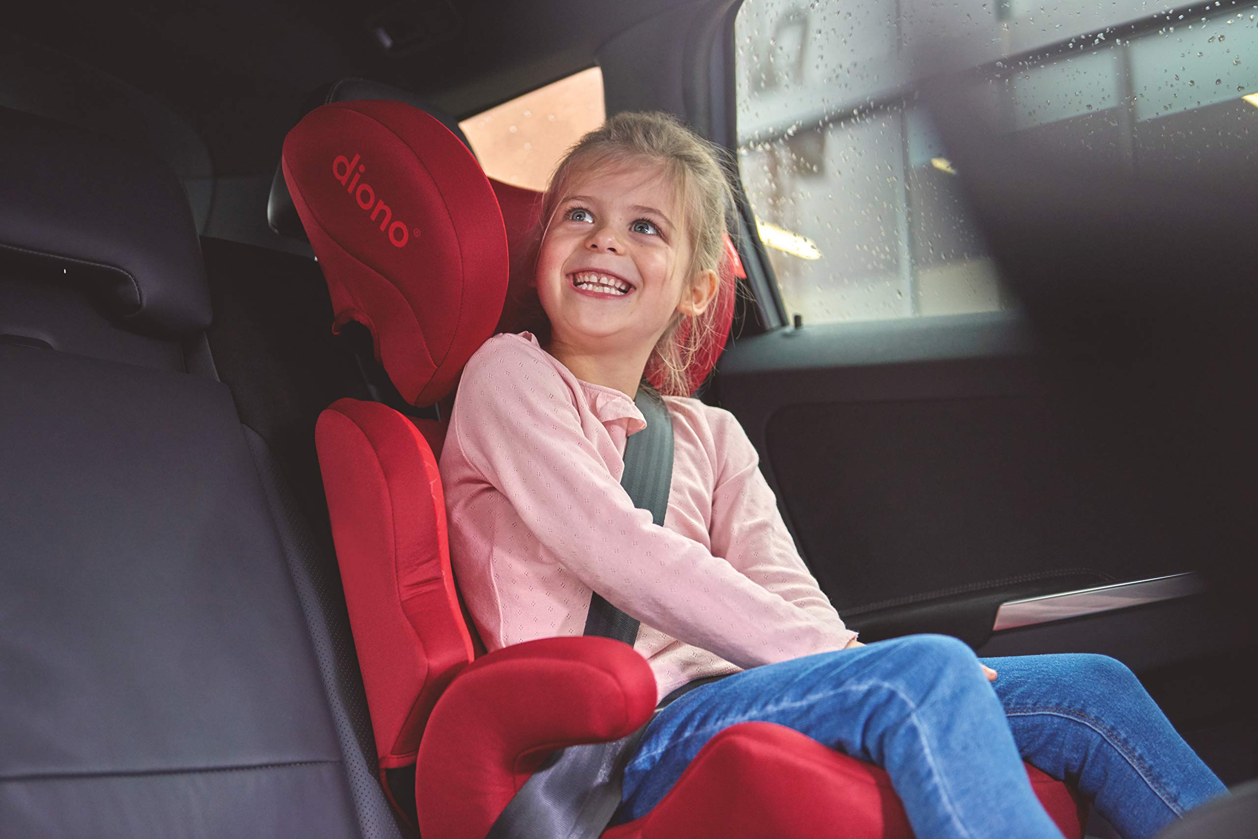 Diono Everett NXT Fix Highback Booster Seat - 7 Position Adjustable Headrest, Group 2/3 (15 - 36 kg and Up to 160 cm In Height), Approx. 4-12 Years, Plum Diono Designed to grow: group 2/3 car seat is suitable from 18kg - 50kg, approx. 4 to 12 years old. The 7-position adjustable headrest can be altered using the handle on the back of the seat Superior safety: cushioned side impact protection has been engineered and tested to the highest standards. The ergonomic design includes extra padding to provide comfort and security as a child grows Universal connectivity: parents can install the seat using the vehicle seatbelt or use the integrated rigid latch connectors that anchor the seat to the car allowing the child to buckle themselves in 10