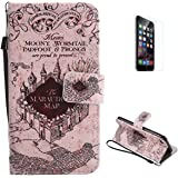 KaseHom Compatible with Case iPhone 7/iPhone 8 (4.7inch) Flip Leather Case, Folio PU Leather Wallet Style Bumper Protective Skin Cover Holster for Apple iPhone 7/iPhone 8 (4.7inch) - Magic Castle
