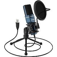 TONOR PC Mikrofon USB Computer Kondensatormikrofon Gaming Mikros Plug & Play mit Stativ und Pop-Filter für Podcasts, für…