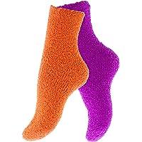 Vincent Creation 4 Confezione lanuginoso morbido pile calzini termici delle donne, vari colori