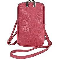 AmbraModa GLX17 - Umhängetasche, Handytasche, Echtleder Tasche mit abnehmbarem und verstellbarem Schultergurt, geeignet…