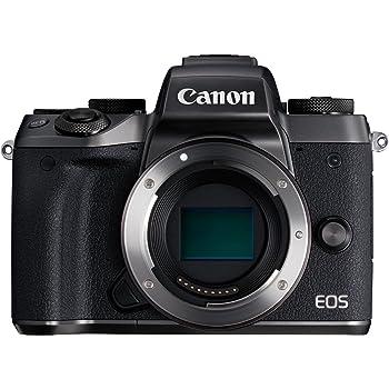 Canon EOS M5 Fotocamera Digitale Mirrorless con Adattatore EF-EOS M, Nero [Versione EU]