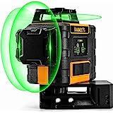 Livella Laser Autolivellante Verde 3x360°, livella laser Professionale 360, Carica USB, Modalità Autolivellante e Pulsata (Co