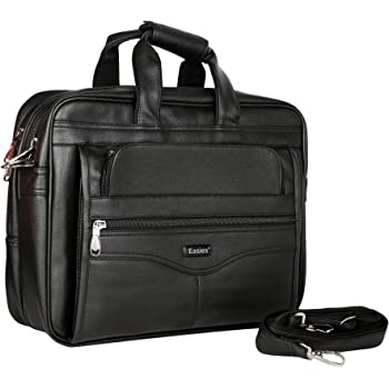 Easies Black Faux Leather 25Litres Laptop Bag