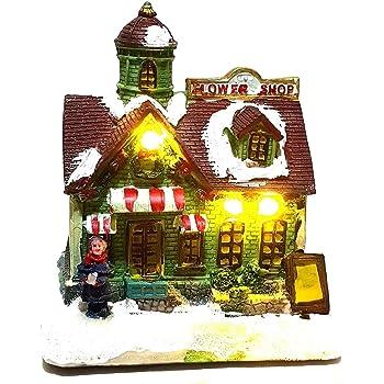 LED Musik Winterlandschaft Weihnachtsszene Spieluhr Weihnachten Weihnachtsdeko
