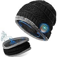 GeekerChip Cappello Bluetooth con Sciarpa,Cappello Uomo Donna Invernali in Maglia,Bluetooth 5.0 Musica Cappello,per…