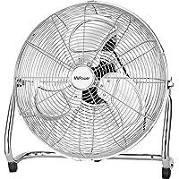 """MVPower Ventilateur de Sol, 16"""" Ventilateur Industriel à volume d'air élevé, Pales Métalliques, Moteur en Cuivre…"""