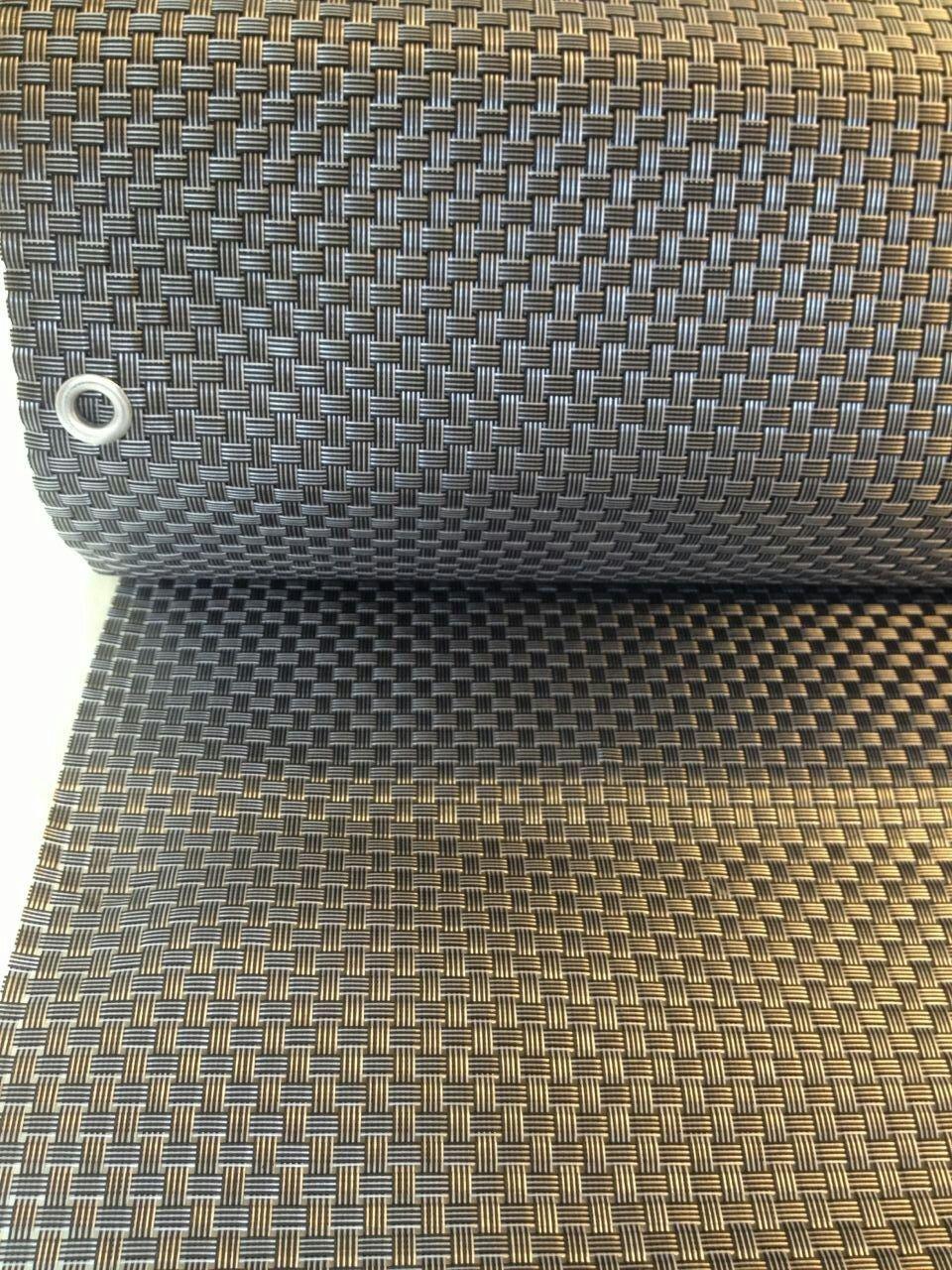 Smart Deko Silber&Anthrazit 8x0 9m Polyrattan Sichtschutz