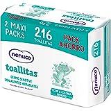 Nenuco - Dermosenstive Toallitas para Bebé - Maxi Pack Ahorro, 216 unidades