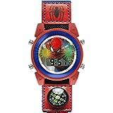 Spiderman Orologio Digitale Unisex Bambini con Cinturino in Tessuto SPD4586