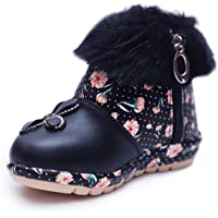 BOOMER CUBS Kids Girls Lovely Floral Pattern Shoes (Size Chart in Images)