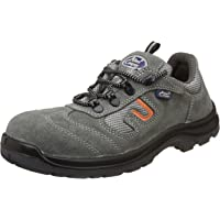Allen Cooper AC-1459 Safety Shoe, Double Density DIP-PU Sole, Grey, Size 5