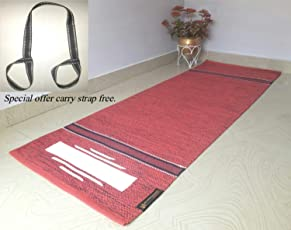ASE YOGA INDIA Cotton Yoga Mat with 6mm Thickness, 70x190cm (Multicolour)