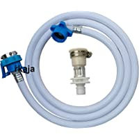 Irkaja 5 Meter Flexible PVC Washing Machine Water Inlet/Inflow Hose Pipe with 2 Type Tap Adapters/Connectors for Front…