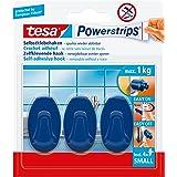 Tesa PowerStrips Haken Large Ovaal, 3 stuks blauw