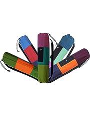 """RYAN OVERSEAS Cotton Matbag with Drawstring Adjuster, 28 length x 5.5"""" dia (Plum)"""