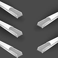 Noble Aluminium Profile for LED (Flat, 0.40W) - Set of 5