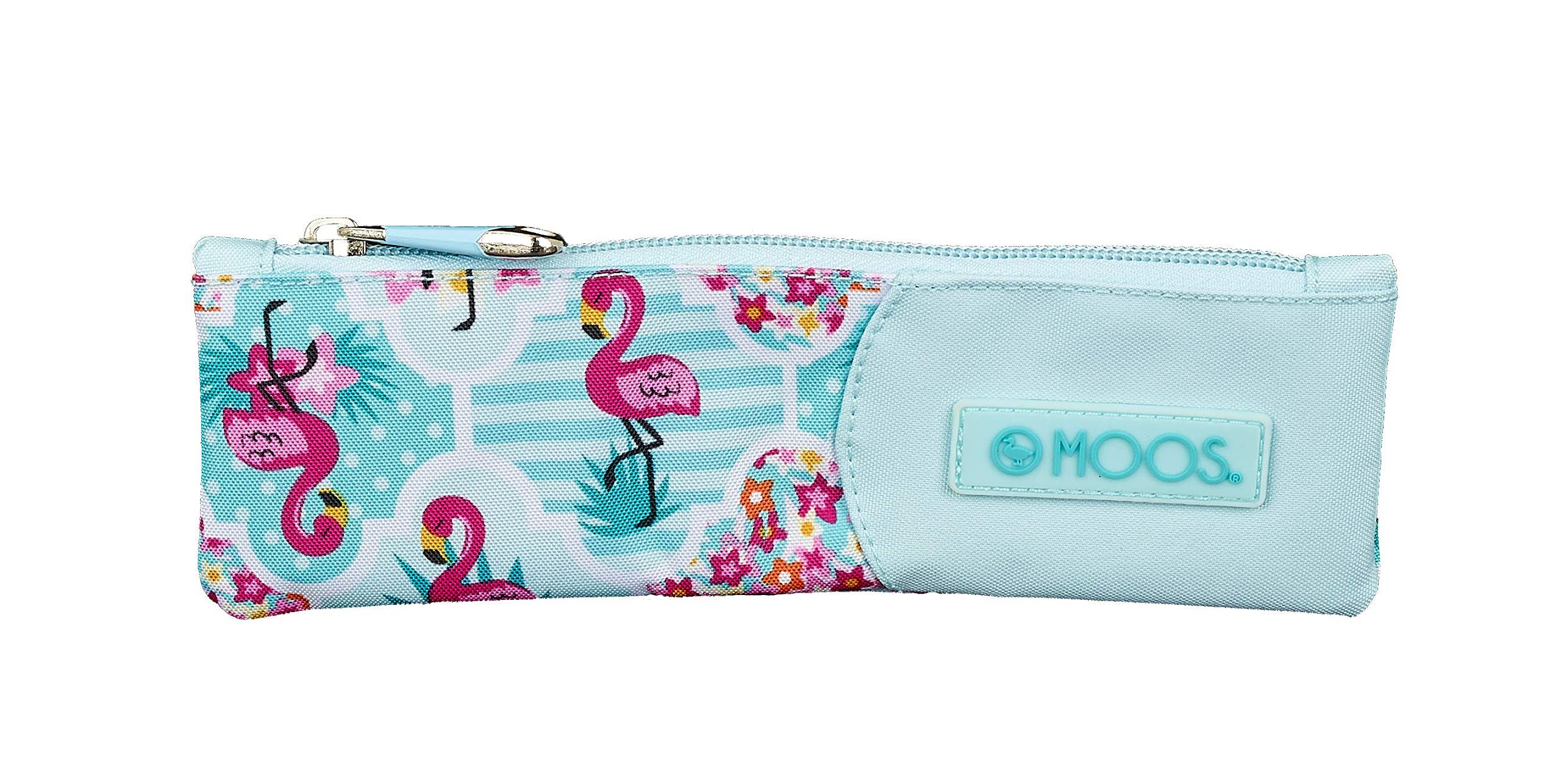 Moos Flamingo Turquoise Oficial Estuche Escolar 200x60mm