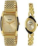Sonata Analog Gold Dial Unisex Watch-NM70808069YM01 / NL70808069YM01