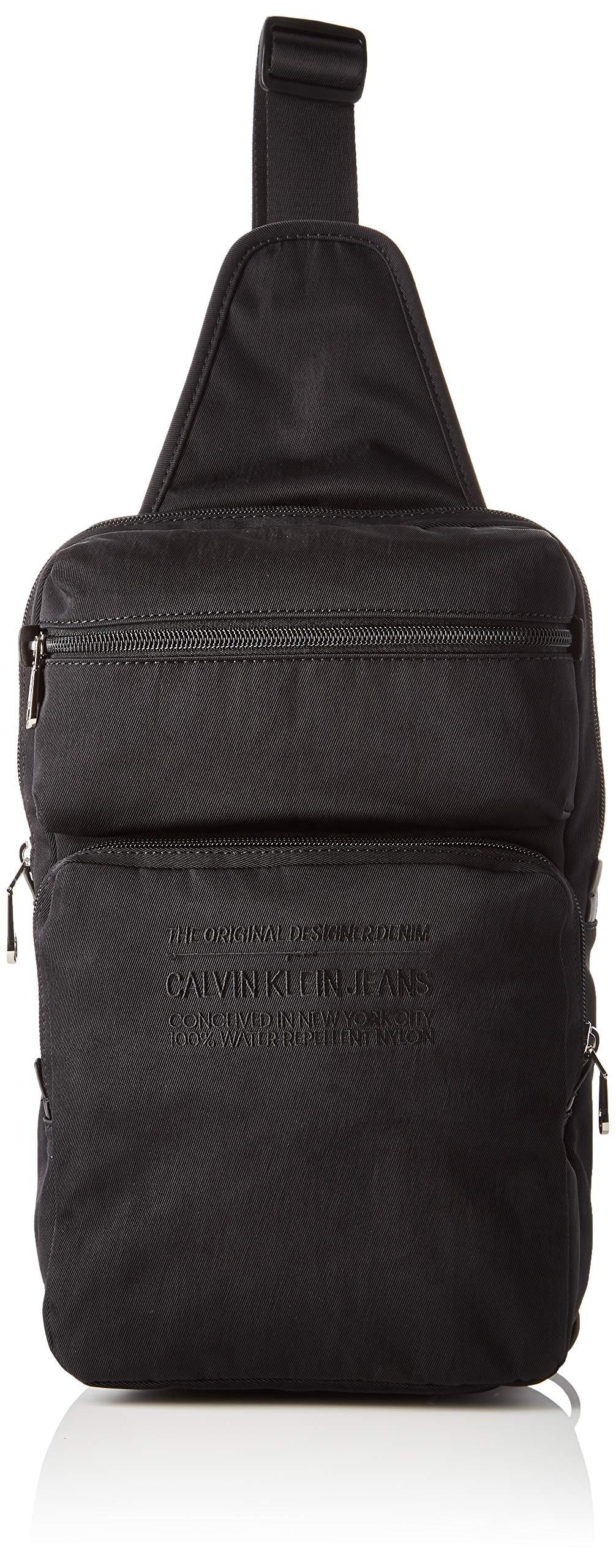 Calvin Klein NYLON UTILITY 2 PKT SLINGHombreShoppers y bolsos de hombroNegro (Black) 9.5x32x20 centimeters (B x H x T)