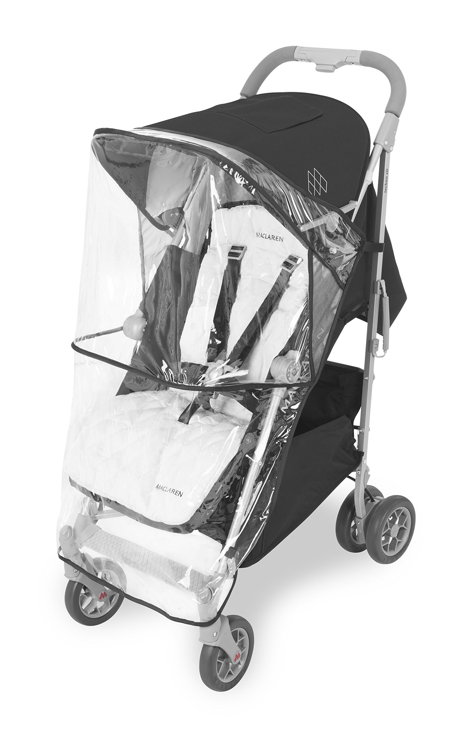 Maclaren Techno XLR arc Travel System Stroller Maclaren Basic weight of 6.7kg/14.8lb; ideal for new-borns and children up to 25kg/55lb (usa 65lb) Maclaren is the only brand to offer a sovereign lifetime warranty Extendable upf 50+ sun canopy and built-in sun visor 7