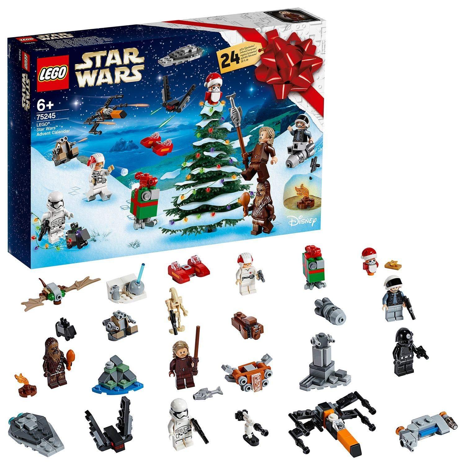 Calendrier De L Avent Lego City 2020.Lego Calendrier De L Avent Star Wars 2019 Compte A Rebours De Noel Inclus 24 Minifigurines A Assembler 6 Ans Et Plus 280 Pieces A Construire 75245