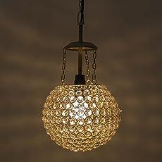 Homesake A526 Crystal Pendant Hanging Lamp (Gold and Silver)